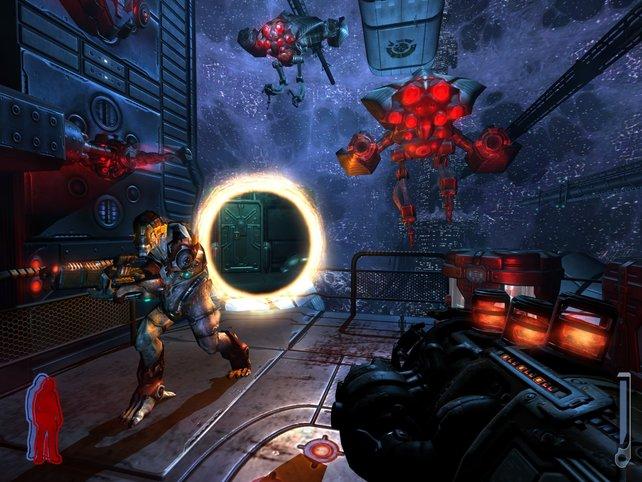 Portale und Außerirdische braucht jedes gute Spiel.