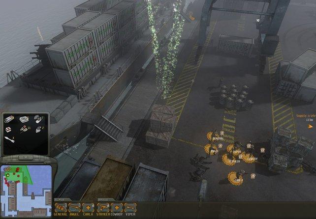 Die übersichtlichere, taktische Karte bietet mehr Übersicht. Jetzt spielt sich der Titel ähnlich wie Company of Heroes.