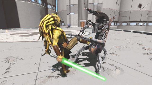 Mit dem Fuß jemanden in die Magengrube treten? Bei Kinect Star Wars kein Problem.