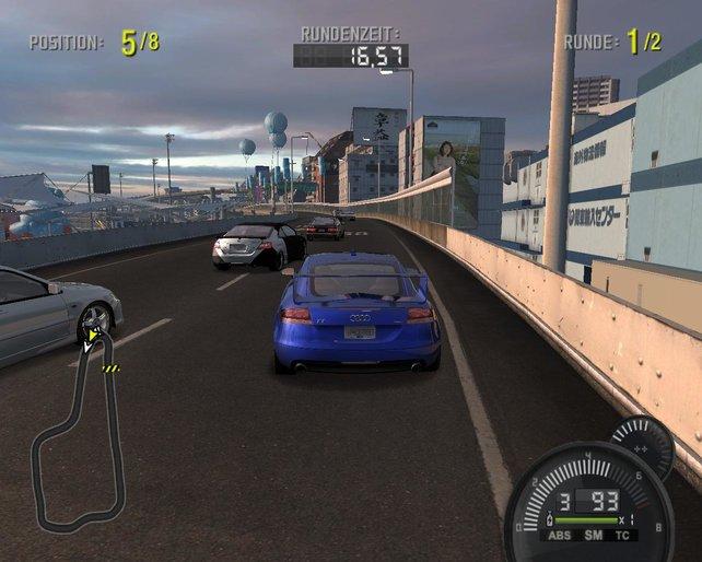 Hier bin ich in einem Grip-Rennen mit meinem zweiten Audi, dem TT unterwegs