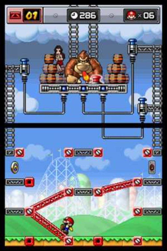 Vom Prinzip her geht es in der aktuellen Serie Mario vs. Donkey Kong ganz ähnlich zu wie vor dreißig Jahren.