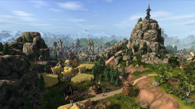 Die Siedler 7 zeigt sich in schöner und detaillierter Grafik.