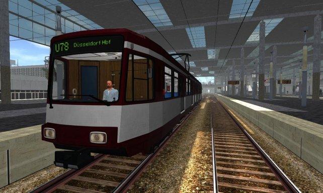 Hier seht ihr die Düsseldorfer Stadtbahn in all ihrer Pracht.
