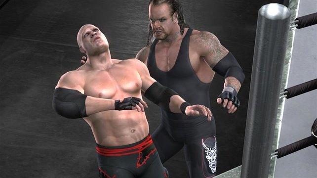 Der Undertaker teilt auch in diesem Teil sehr effektvoll aus.