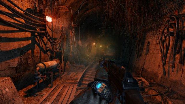 Held Artjom unterwegs im Untergrund.