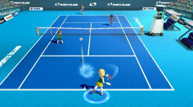 Auch eure Tennis-Fertigkeiten könnt ihr im zweiten Teil trainieren.