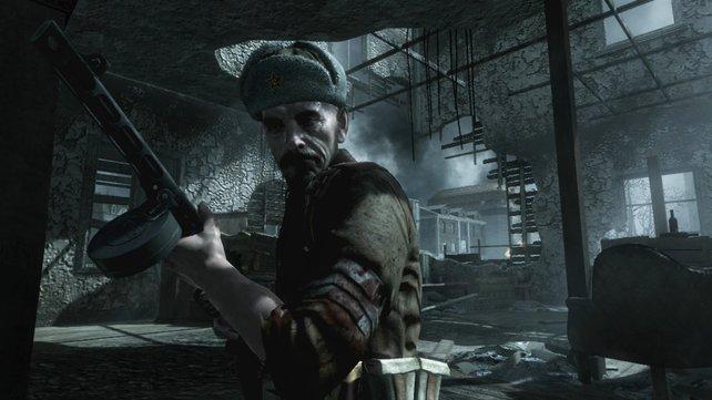 Sergeant Reznov führt euch über die Dächer Stalingrads.