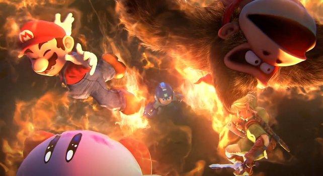 Mega Man (Mitte) heizt seinen Gegnern gehörig ein.