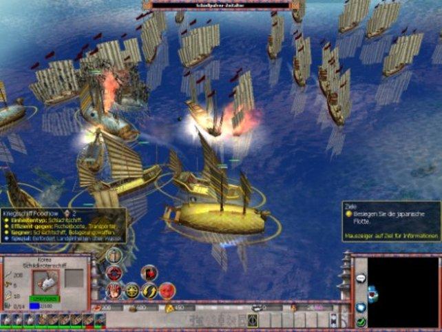 Im zweiten Abenteuer gibt es viele Seeschlachten