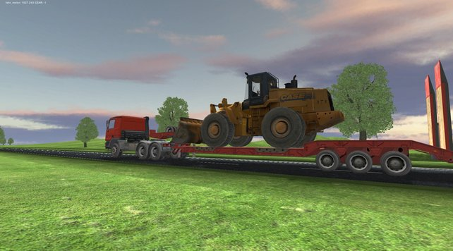 Schwertransport Simulator 2011: Hübsch ist anders.
