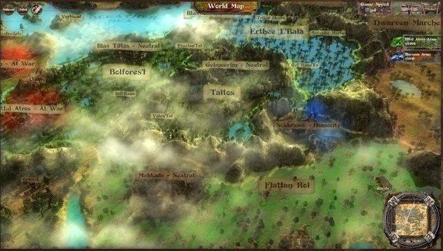 Die Weltkarte - Ein viel zu schöner Ort um Krieg zu führen.