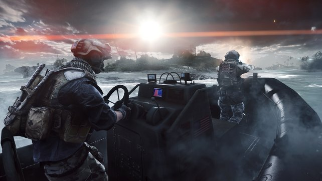 Mal Regen und mal Sonnenschein: Die Wetterbedingungen wechseln in Battlefield 4 dynamisch.