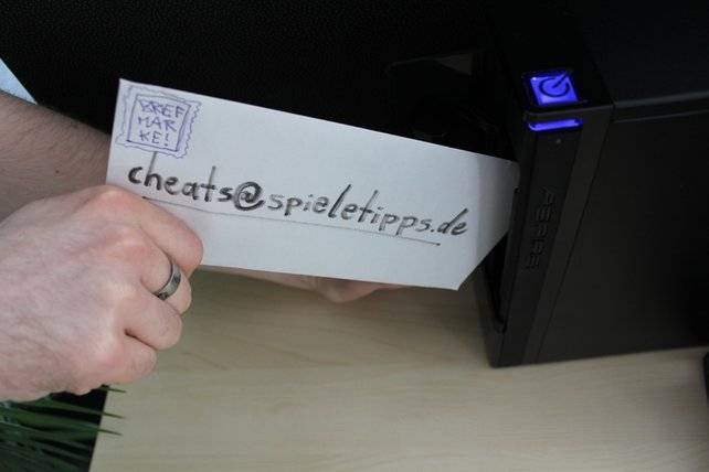 Tipp zu groß? Einfach per Mail an cheats@spieletipps.de schicken!