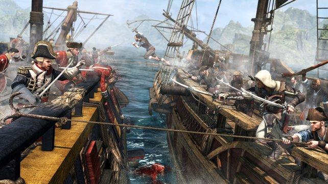 Der Kapitän des feindlichen Schiffes ist euer Hauptziel. Den Rest erledigt eure eigene Mannschaft.