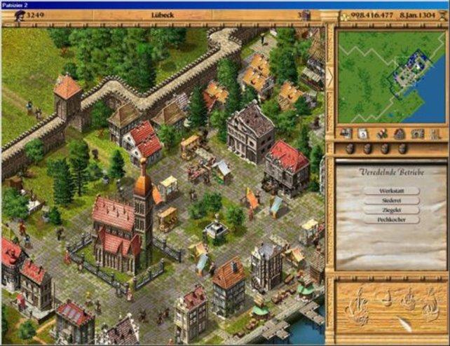 So sieht eine Stadt in Patrizier II aus