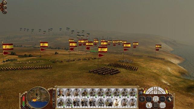 Verwaltet eine riesige Armee und nutzt unzählige taktische Möglichkeiten.