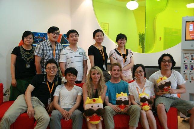 Die Entwickler der Firma Kingnet. Ganz rechts sitzt Gesprächspartner Daniel Chiu.