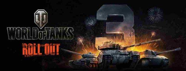 World of Tanks feiert sein dreijähriges Bestehen im europäischen Raum.