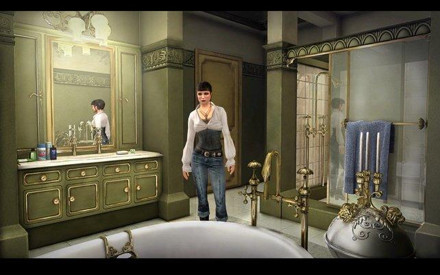 3D-Figuren agieren vor animierten Hintergründen.