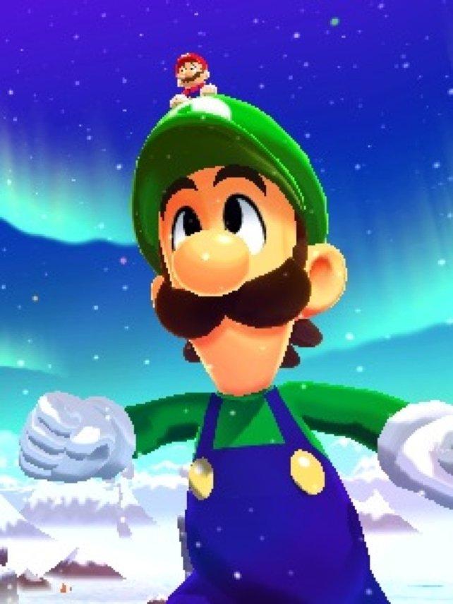 Im Traum wächst Luigi manchmal über sich selbst hinaus. Ihr dreht euren 3DS dann um 90 Grad.