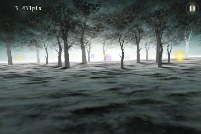 Im Nebel schwirrende Irrlichter bringen euch zusätzliche Punkte.