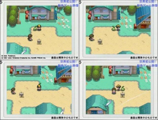 Wie in der Gelben Edition verfolgt euch euer Pokemon auch außerhalb von Kämpfen.