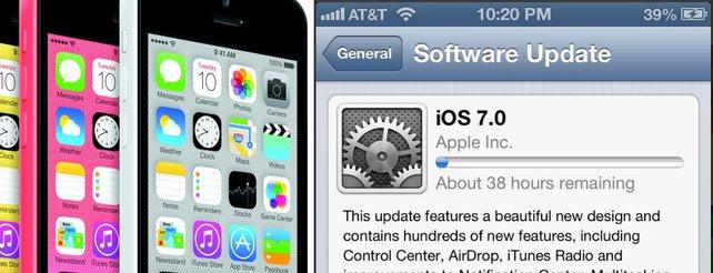 iPhone: Ansturm auf iOS 7 lässt Apples Dienste zusammenbrechen