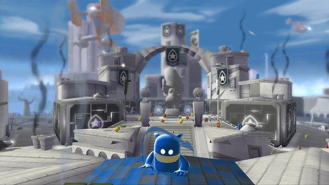 In de Blob 2 herrscht ein kunterbunter Krieg.