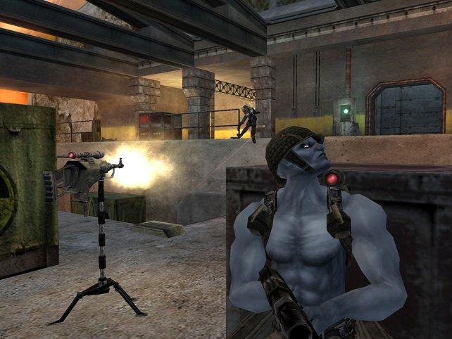 Gunnar gibt Rogue Feuerschutz, während dieser die nächsten Schritte plant.