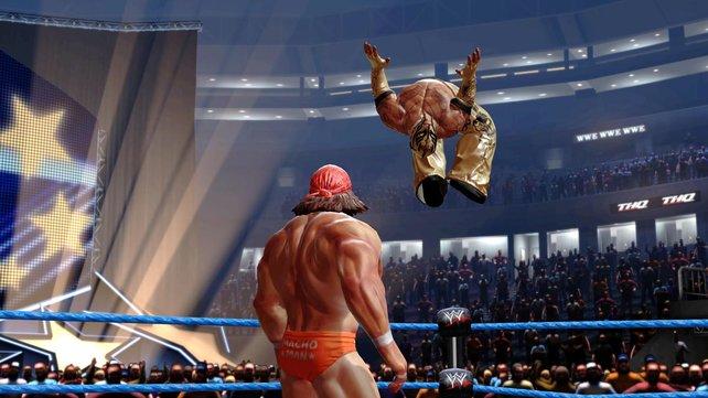 Akrobaten wie Rey Mysterio fühlen sich in der Luft am wohlsten.