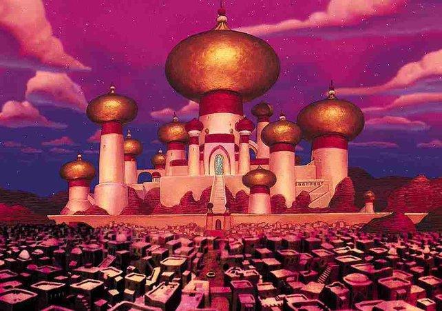 Die Stadt Agrabah. Hier trefft ihr auf Aladdin und Prinzessin Jasmin.