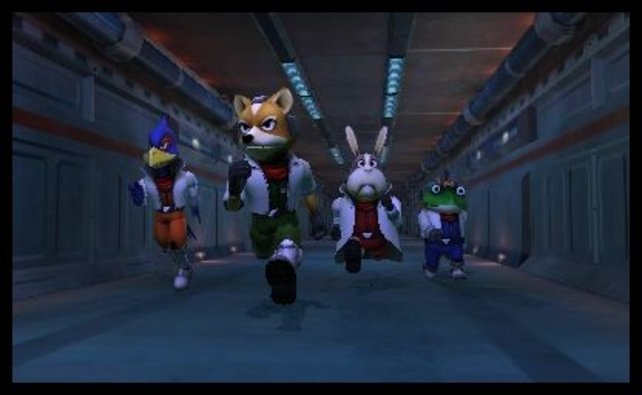 Die Star-Fox-Crew auf dem Weg zum Einsatz.