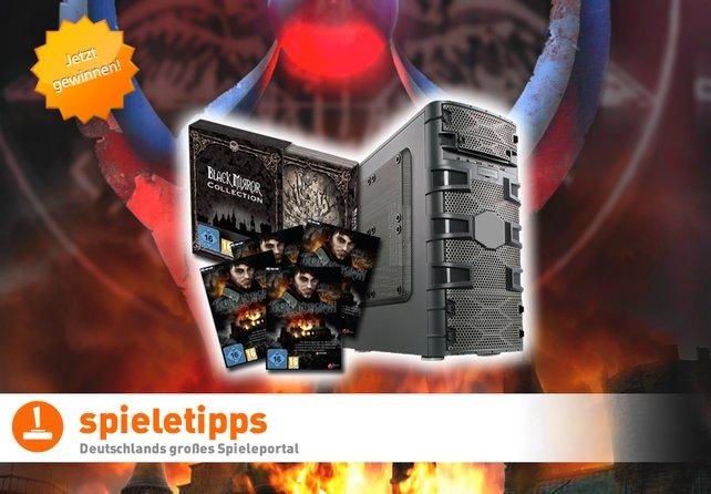 Der Gewinner erhält einen Gamer-PC & Black Mirror 3 Collectors Edition, die Plätze 2 bis 4 bekommen ein Black Mirror 3.