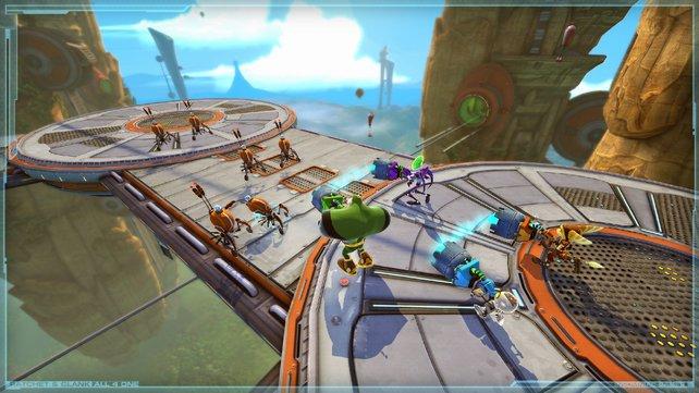Zu viert geht es im neuen Ratchet & Clank auf die Jagd.