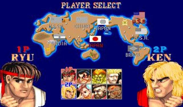 Acht Charaktere stehen für die Kämpfe zur Auswahl.