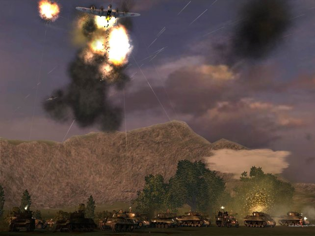 Unentschieden - ob es hilft, dass selbst Bord-MGs auf Bomber feuern?