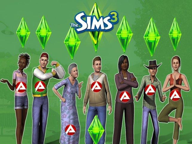 Heart's Fear: Unsere Sims leben direkt in der Arbeitsagentur.