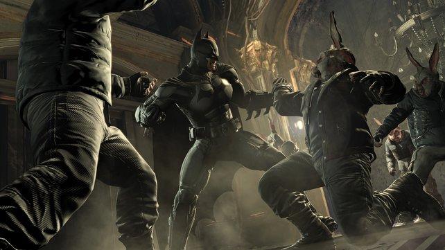 In der bedrückenden Atmosphäre fühlt sich Batman pudelwohl.