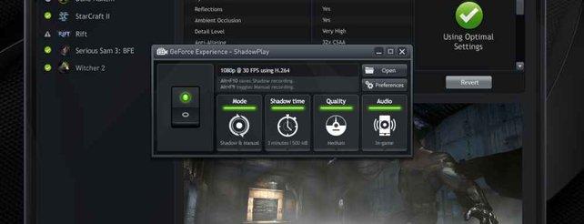 Geforce ShadowPlay: Kostenfrei Spielerlebnisse am PC aufzeichnen