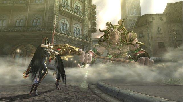 Mit einem Katana gegen göttliche Wesen - klingt unmöglich? Nicht für Bayonetta!