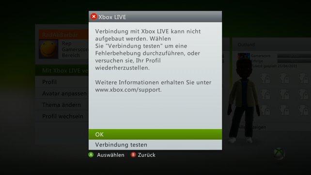 Xbox Live läuft seit seinem Bestehen zuverlässig. Nur einmal kam es zu einem längeren Ausfall.