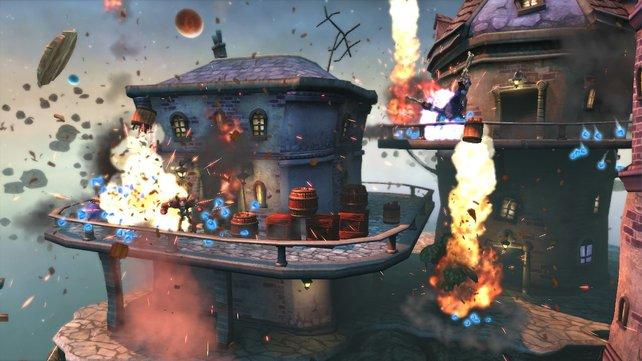 Die Spielwelt von PlayStation Move Heroes ist kreativ gestaltet.
