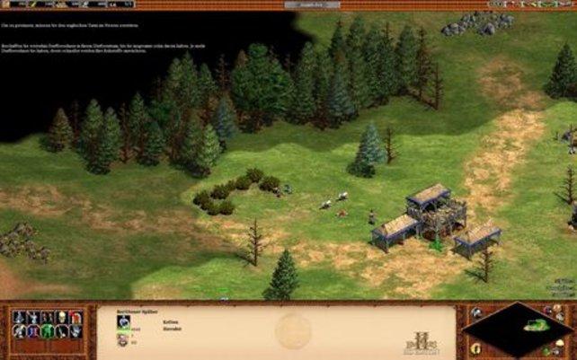 Die Dorfbewohner sammeln Nahrung und bringen sie danach ins Zentrum der Siedlung (Age of Empires 2 HD).
