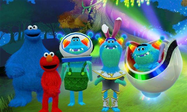 Das Krümelmonster und Elmo (links) nehmen die Kleinsten auf eine Bilderbuchreise mit.