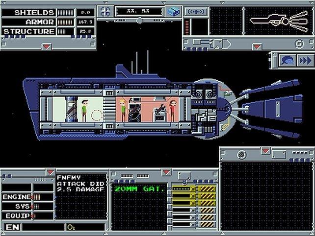 Ihr seid im Spiel auch für die Mannschaft des Raumschiffes verantwortlich.