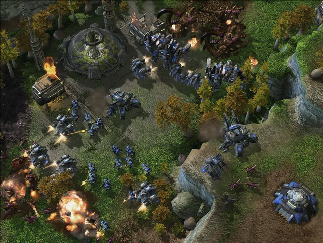 Spielszene aus Starcraft 2 - Wings of Liberty