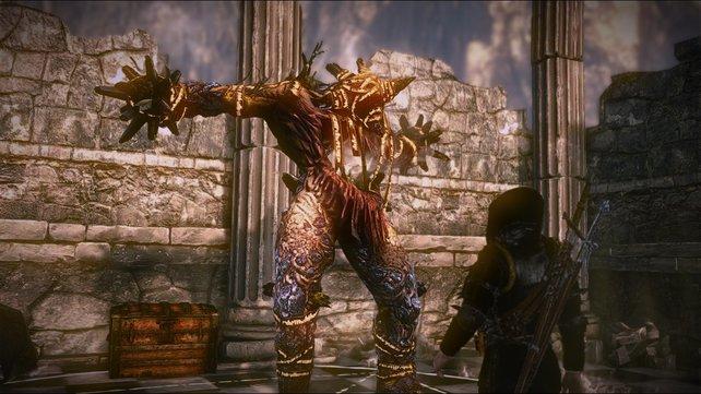 Auch manch ein XXL-Monster stellt sich Geralt in den Weg.