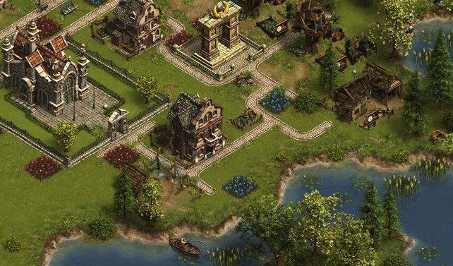 Die Spielwelt des Browserspiels Die Siedler Online ist sorgfältig konzipiert worden.