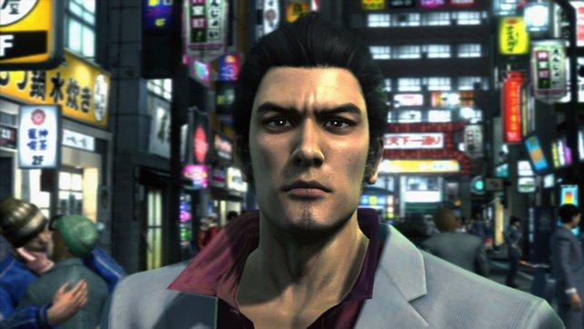 Ex-Yakuza und Hauptdarsteller Kiryu Kazuma.