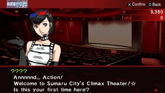 Von solchen Mitarbeiterinnen lässt man sich doch gern im Kino begrüßen.